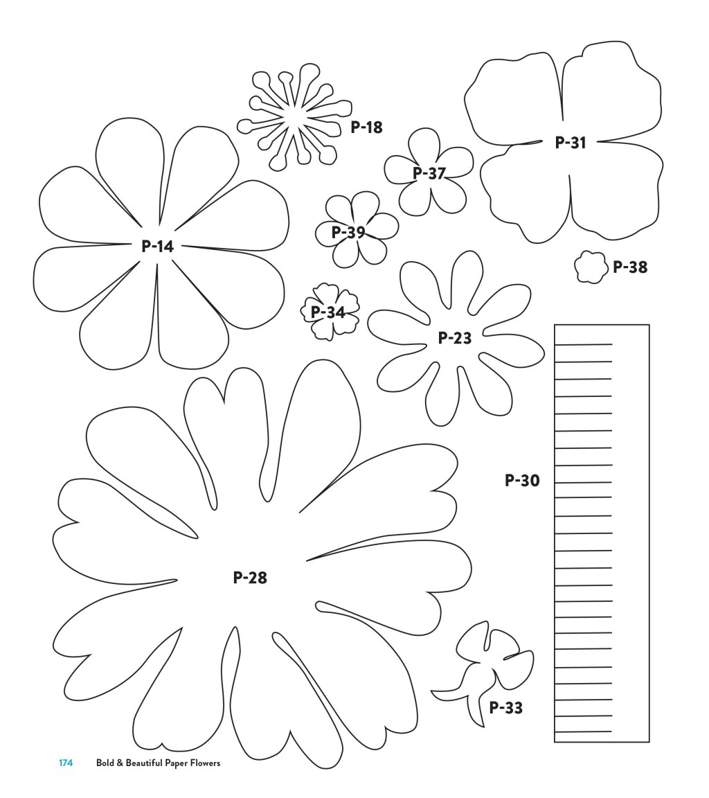 003 Staggering Downloadable Free Printable Paper Flower Template Picture  TemplatesLarge