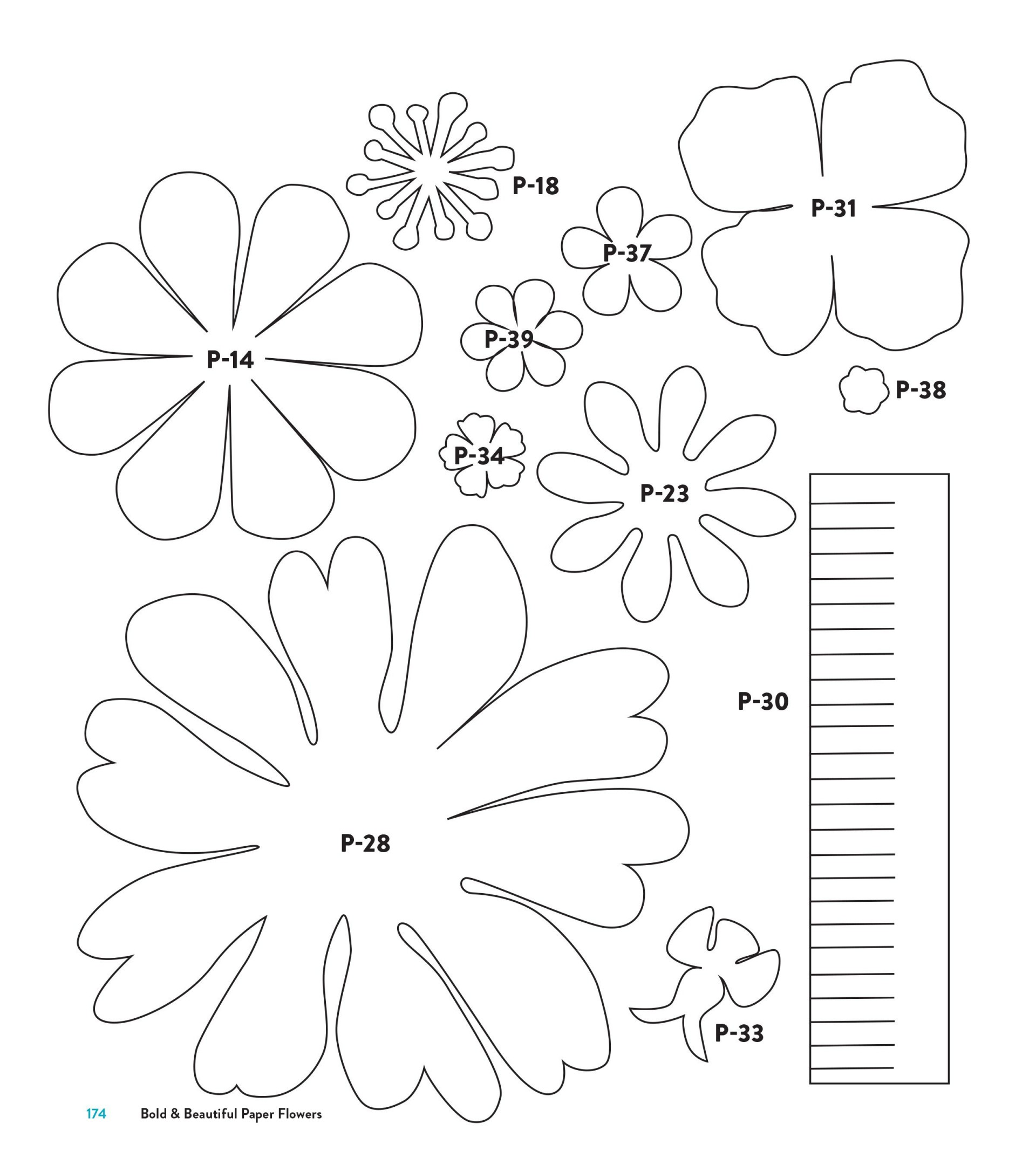 003 Staggering Downloadable Free Printable Paper Flower Template Picture  Templates1920