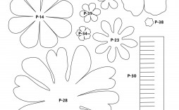 003 Staggering Downloadable Free Printable Paper Flower Template Picture  Templates