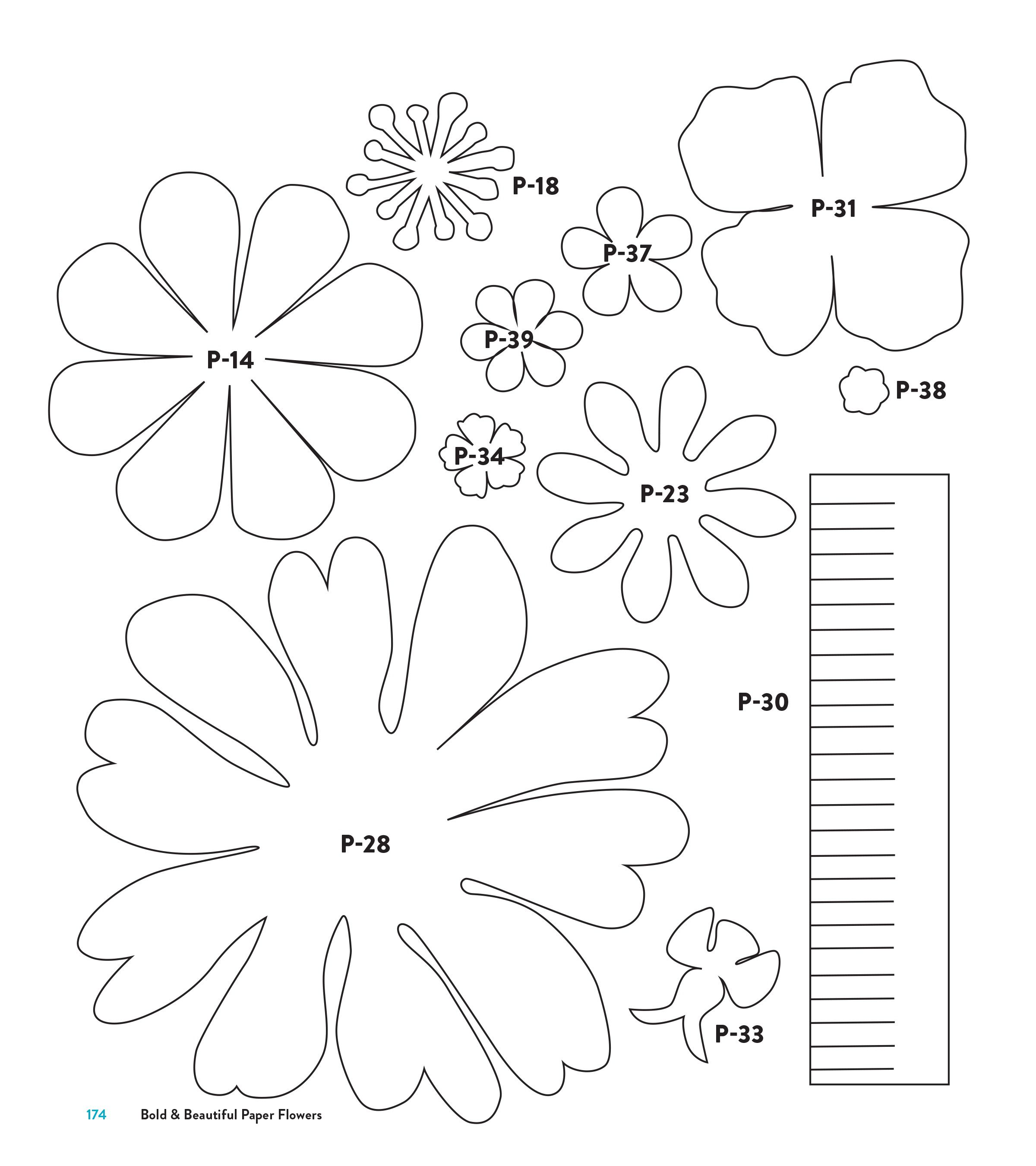 003 Staggering Downloadable Free Printable Paper Flower Template Picture  TemplatesFull