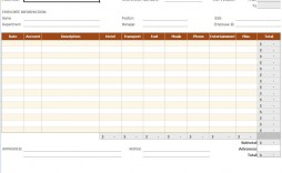 003 Staggering Expense Report Template Excel Highest Quality  Free Format 2010