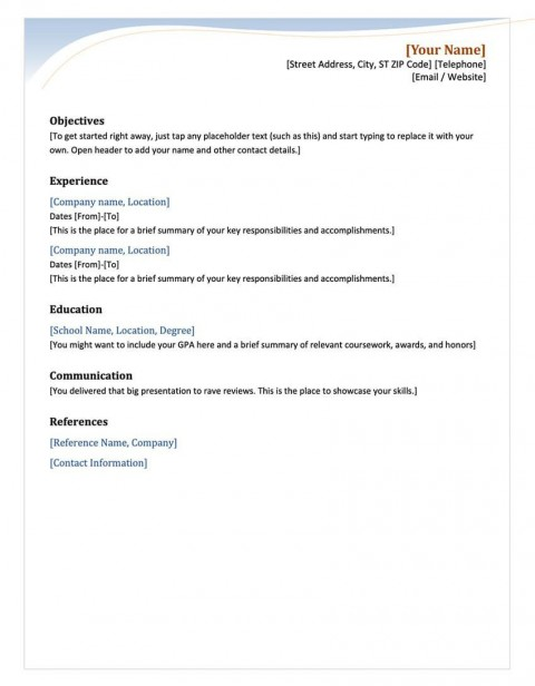 003 Staggering Free Chronological Resume Template Example  2020 Cv480