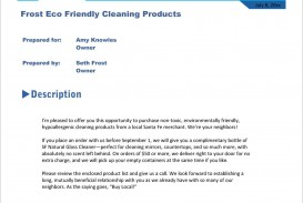 003 Staggering Free Cleaning Proposal Template High Definition  Doc Office Bid