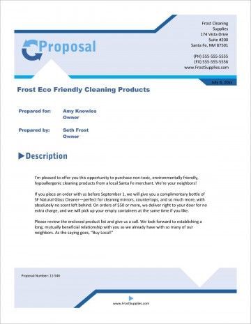 003 Staggering Free Cleaning Proposal Template High Definition  Doc Office Bid360