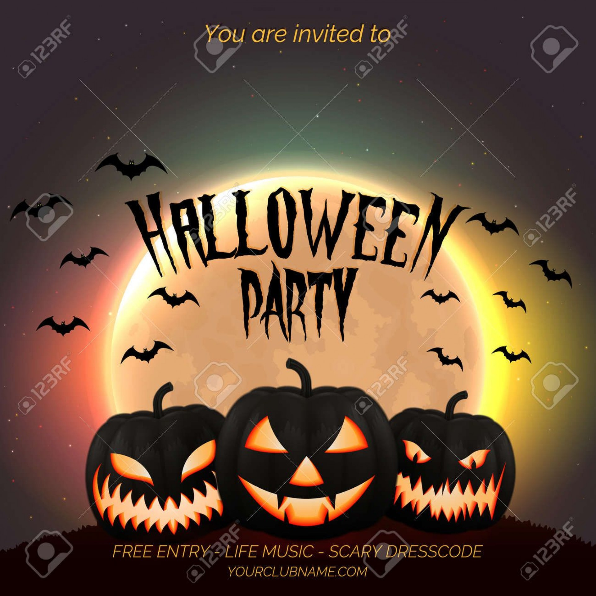 003 Staggering Free Halloween Party Flyer Template Highest Clarity  Templates1920