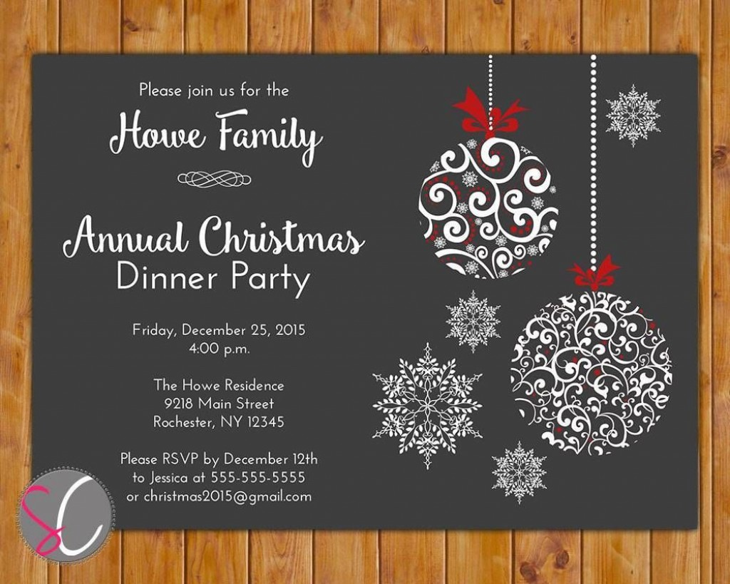 003 Staggering Free Holiday Invitation Template High Def  Online Party ChristmaLarge