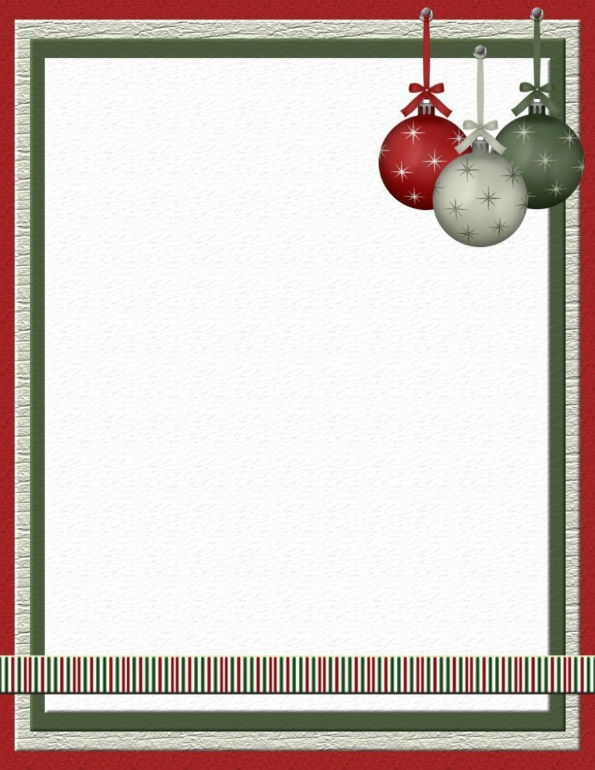 003 Staggering Free Holiday Stationery Template For Word Sample 868