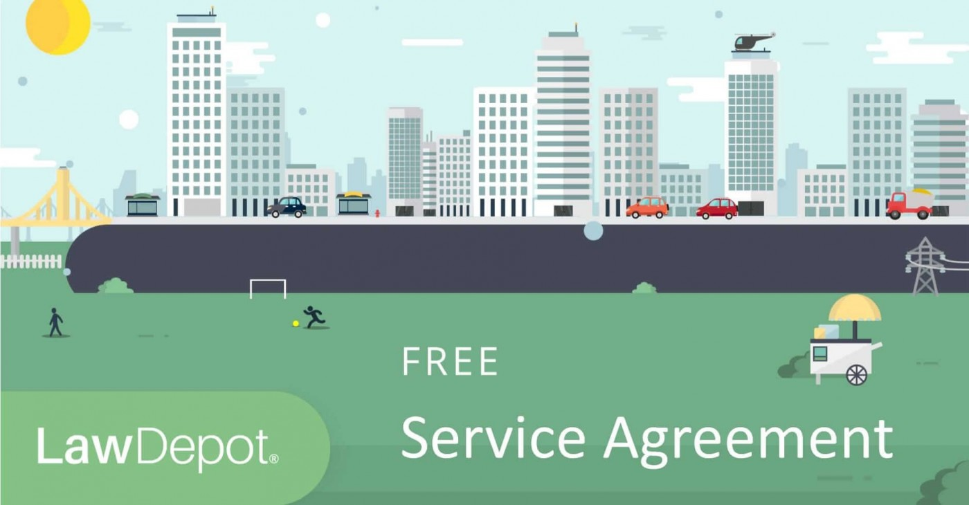 003 Staggering Free Service Contract Template Idea  Cleaning Lawn1400