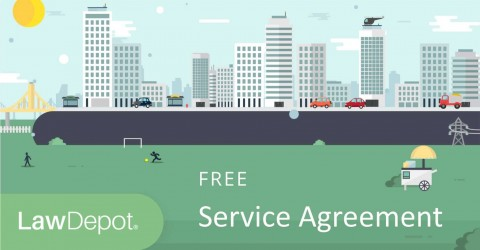 003 Staggering Free Service Contract Template Idea  Cleaning Lawn480