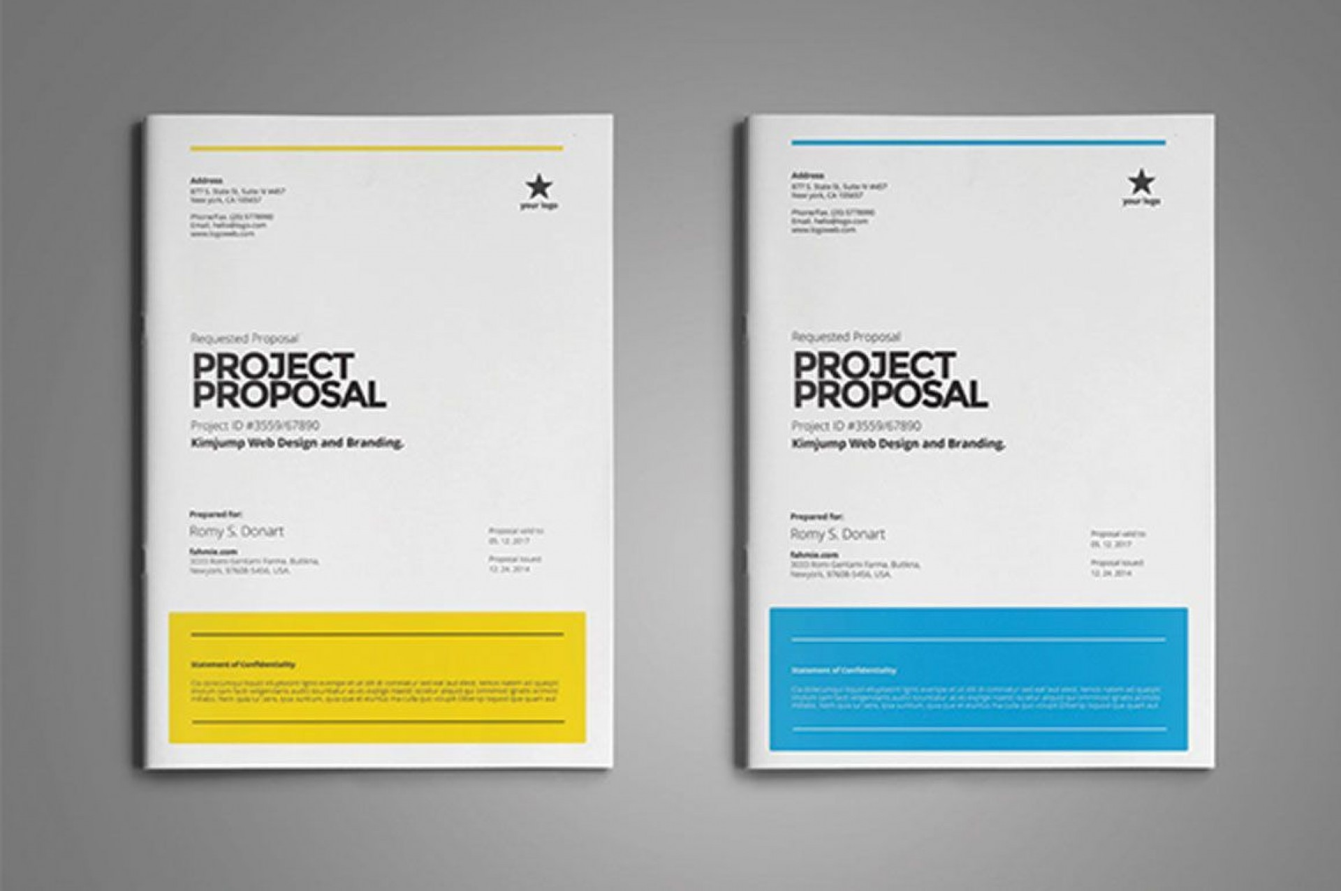 003 Staggering Graphic Design Proposal Template Word High Def 1920