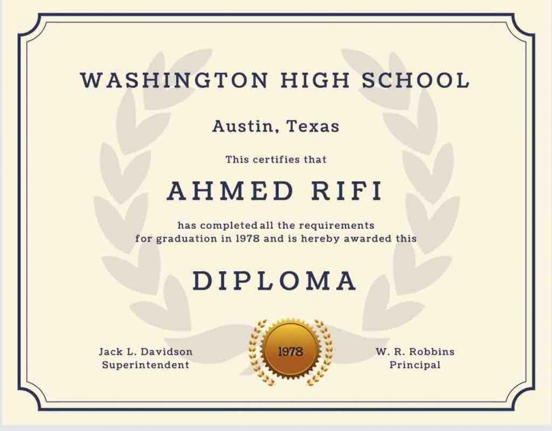 003 Staggering High School Diploma Template Concept  With Seal Homeschool Free Printable Blank1920