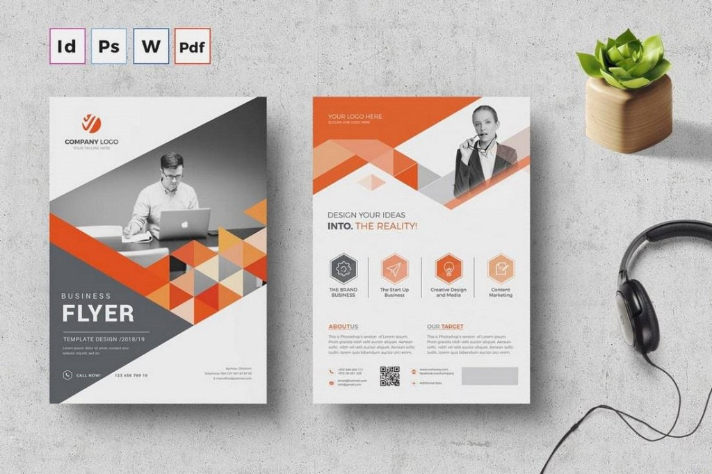 003 Staggering In Design Flyer Template Example  Indesign Free Adobe DownloadLarge