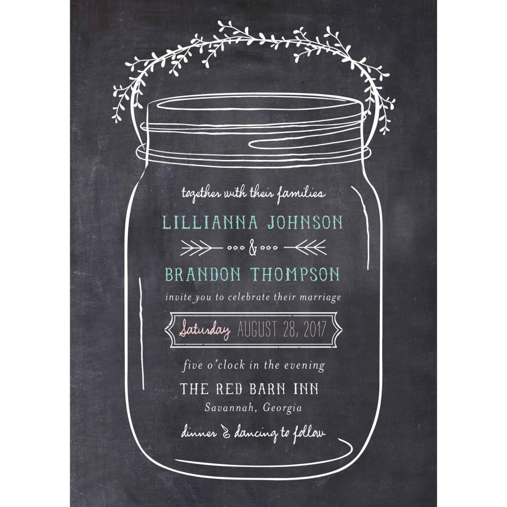 003 Staggering Mason Jar Invitation Template Photo  Free Wedding Shower RusticLarge