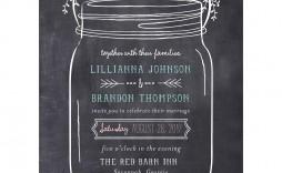 003 Staggering Mason Jar Invitation Template Photo  Free Wedding Shower Rustic