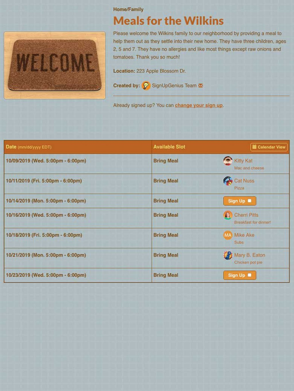 003 Staggering Meal Sign Up Sheet Template Photo  Christma Potluck Free Printable BlankLarge