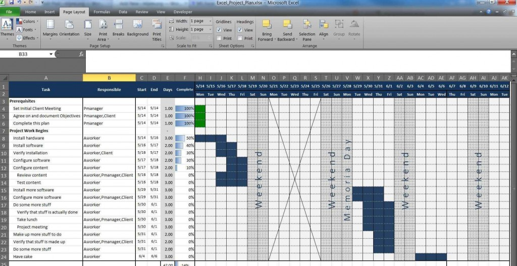 003 Staggering Multiple Project Tracking Template Xl Concept  Spreadsheet ExcelLarge