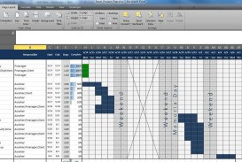 003 Staggering Multiple Project Tracking Template Xl Concept  Spreadsheet Excel