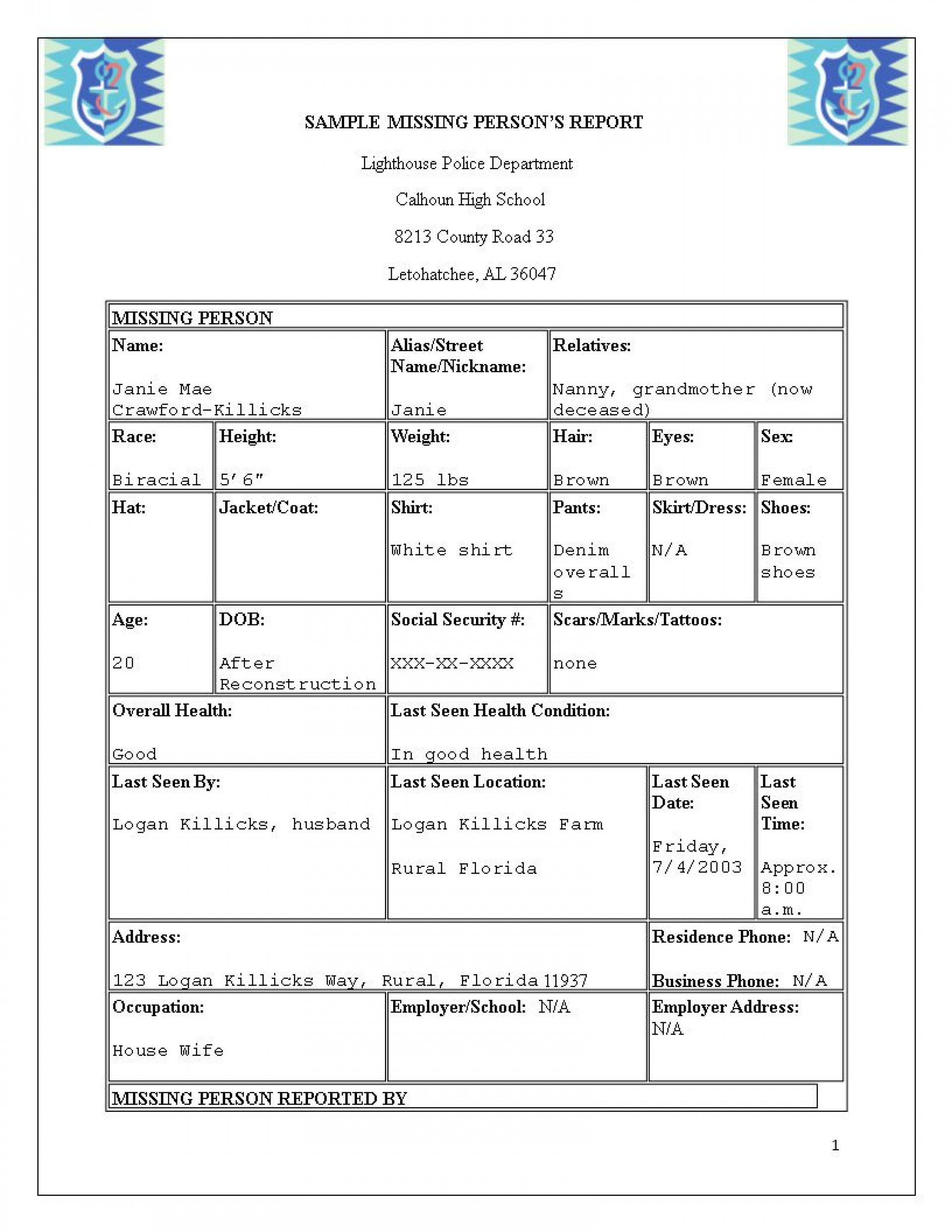 003 Staggering Police Report Template Microsoft Word High Definition 1920