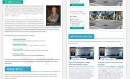 003 Staggering Real Estate Newsletter Template Idea  Templates Free Printable Best