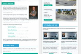 003 Staggering Real Estate Newsletter Template Idea  Free Mailchimp