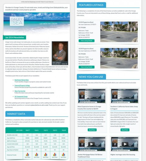 003 Staggering Real Estate Newsletter Template Idea  Free Mailchimp480