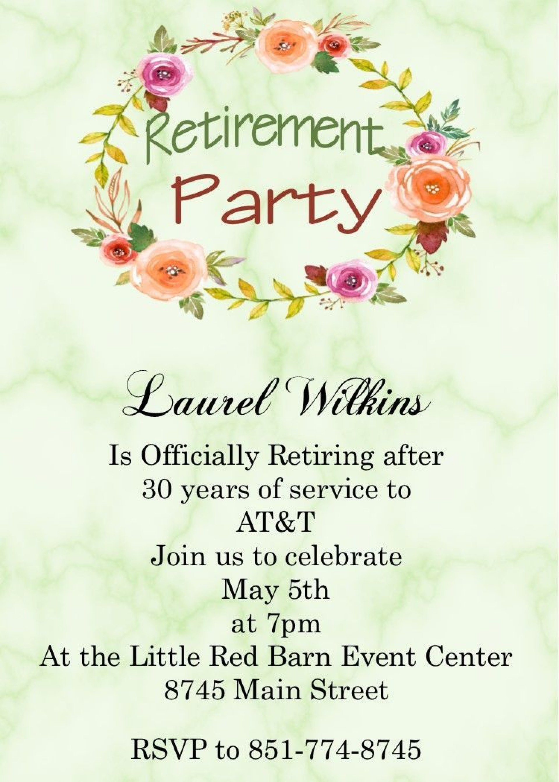 003 Staggering Retirement Party Invitation Template Sample  Templates For Free Nurse M Word1920