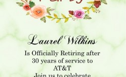 003 Staggering Retirement Party Invitation Template Sample  Templates For Free Nurse M Word
