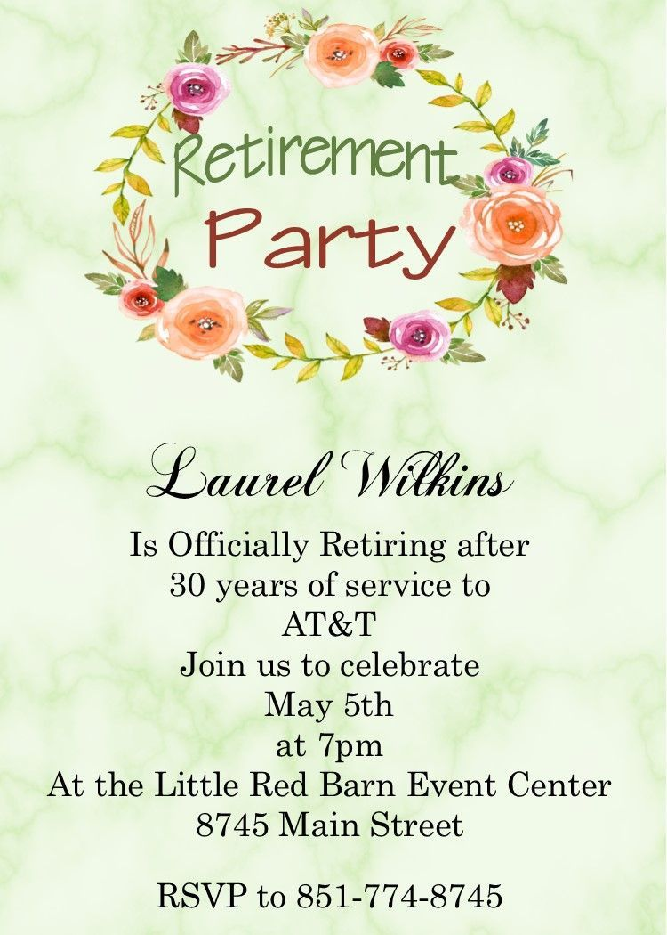 003 Staggering Retirement Party Invitation Template Sample  Templates For Free Nurse M WordFull