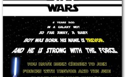 003 Staggering Star War Birthday Invitation Template Picture  Free Party Printable