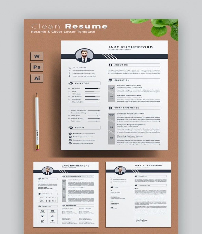 003 Staggering Two Column Resume Template Word Idea  Cv Free MicrosoftLarge