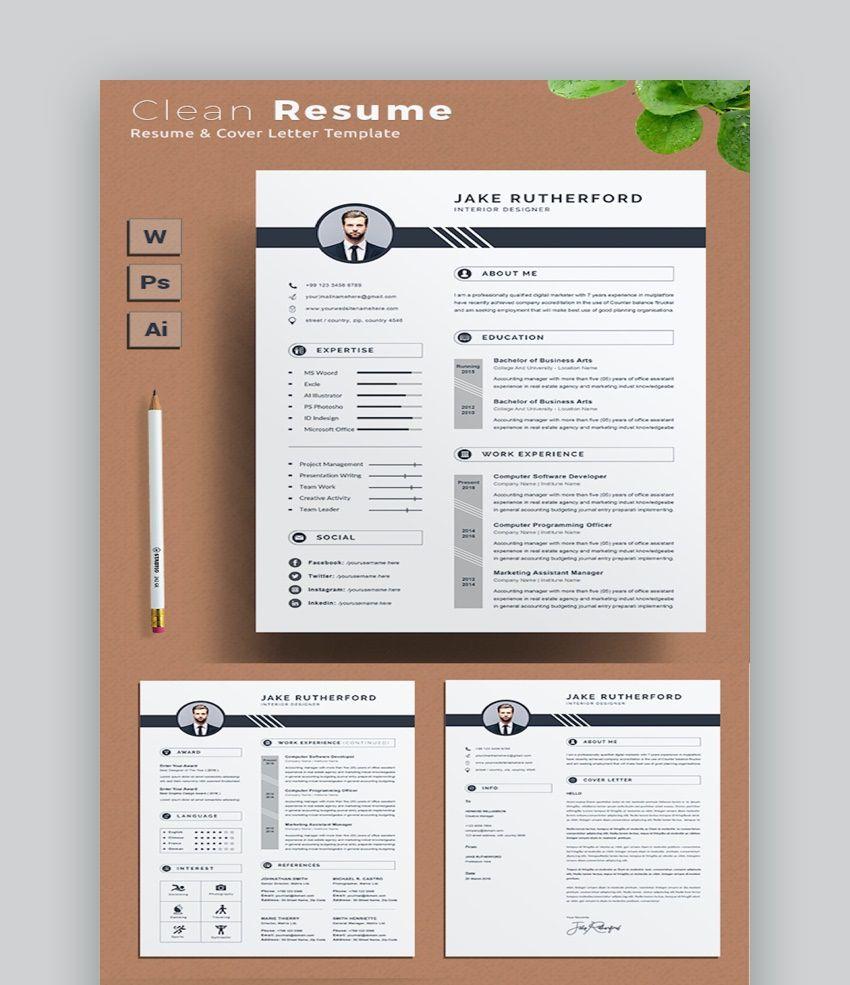 003 Staggering Two Column Resume Template Word Idea  Cv Free MicrosoftFull
