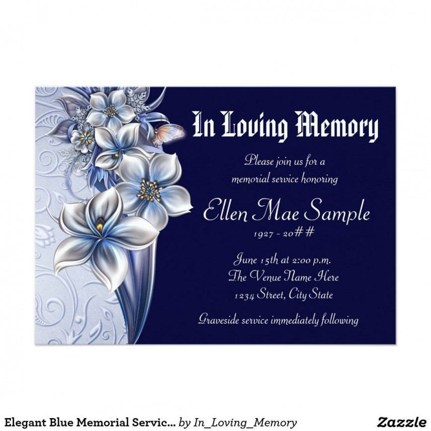 003 Stirring Celebration Of Life Invite Template Free Example  Invitation Download868