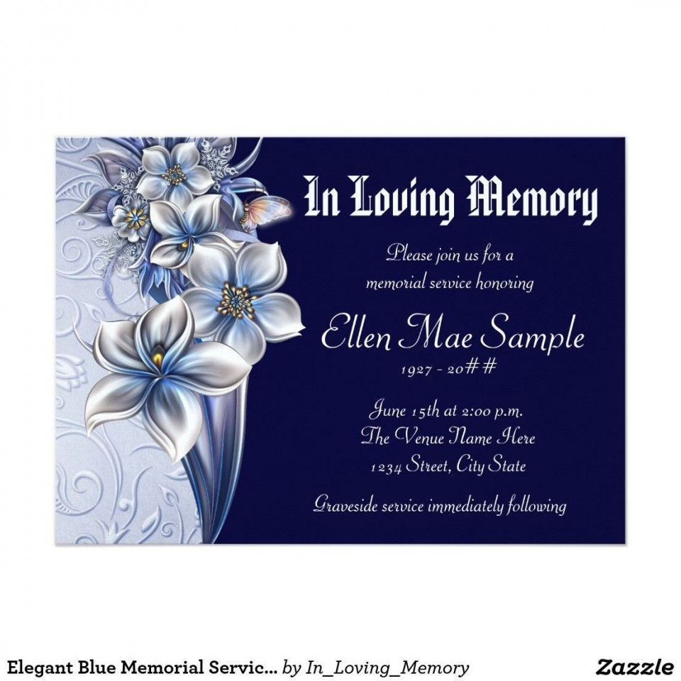 003 Stirring Celebration Of Life Invite Template Free Example  Invitation Download960