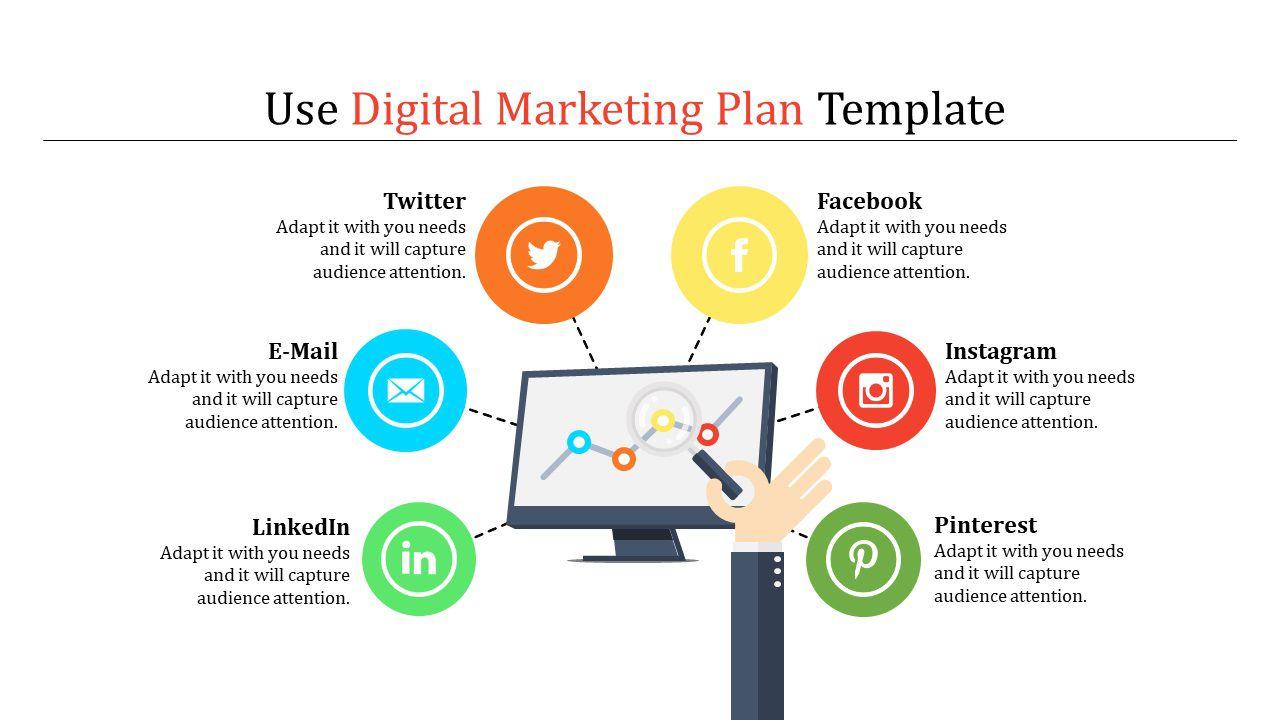 003 Stirring Digital Marketing Plan Template High Def  .xl DocFull