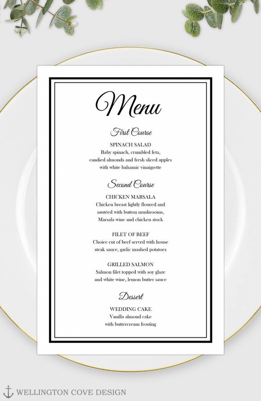 003 Stirring Elegant Wedding Menu Card Template Photo  Templates1920