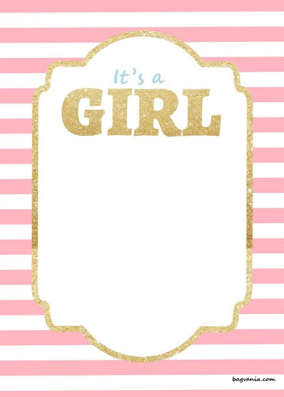 003 Stirring Free Girl Baby Shower Invitation To Print Inspiration  Printable TwinLarge