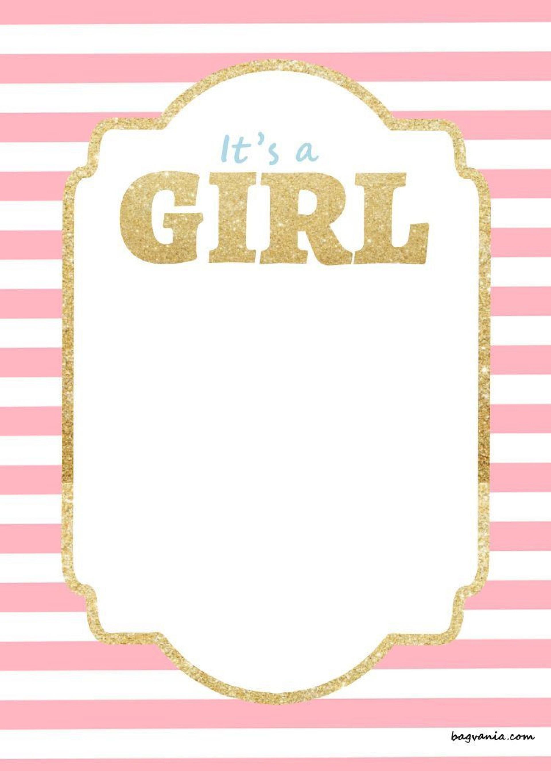 003 Stirring Free Girl Baby Shower Invitation To Print Inspiration  Printable Twin1920