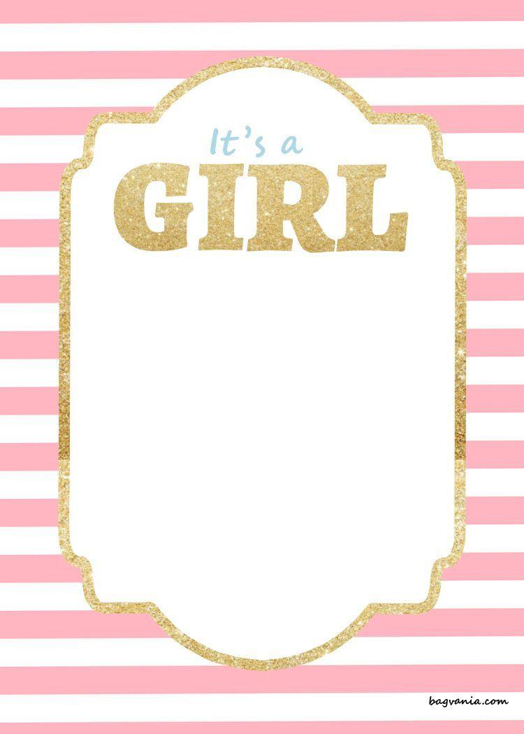 003 Stirring Free Girl Baby Shower Invitation To Print Inspiration  Printable TwinFull