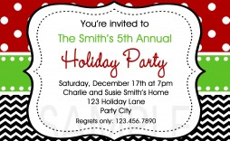 003 Stirring Free Holiday Party Invitation Template For Word Picture