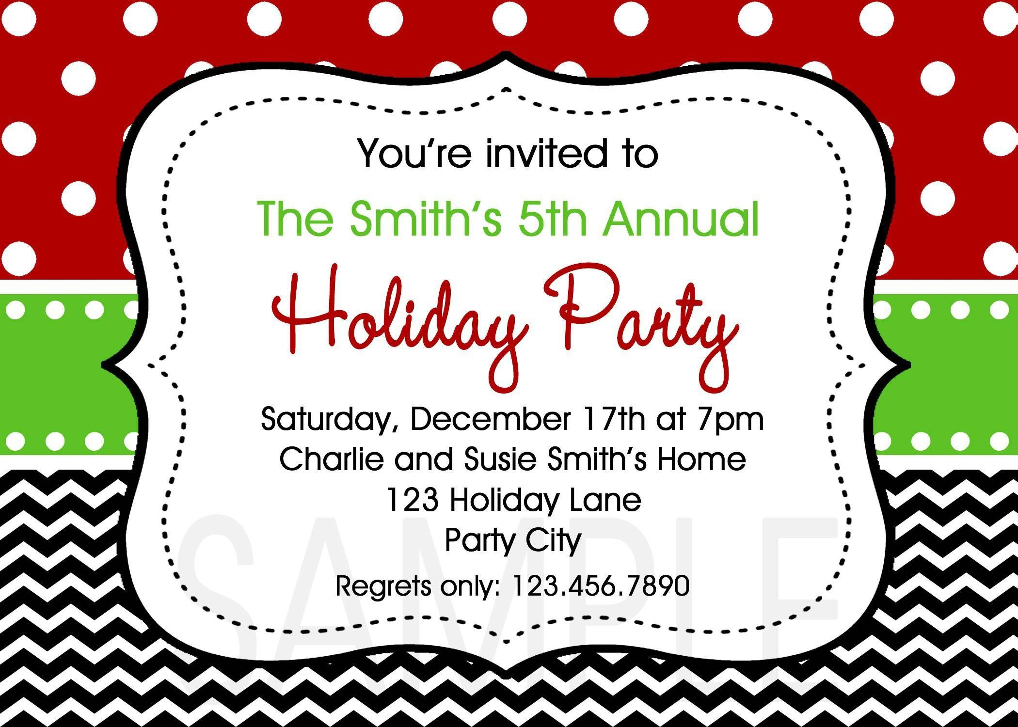 003 Stirring Free Holiday Party Invitation Template For Word Picture Full