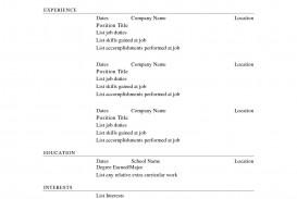 003 Stirring Free Printable Resume Template Blank High Resolution  Fill