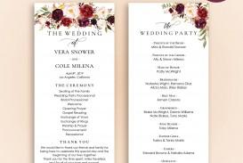 003 Stirring Free Template For Wedding Ceremony Program Design