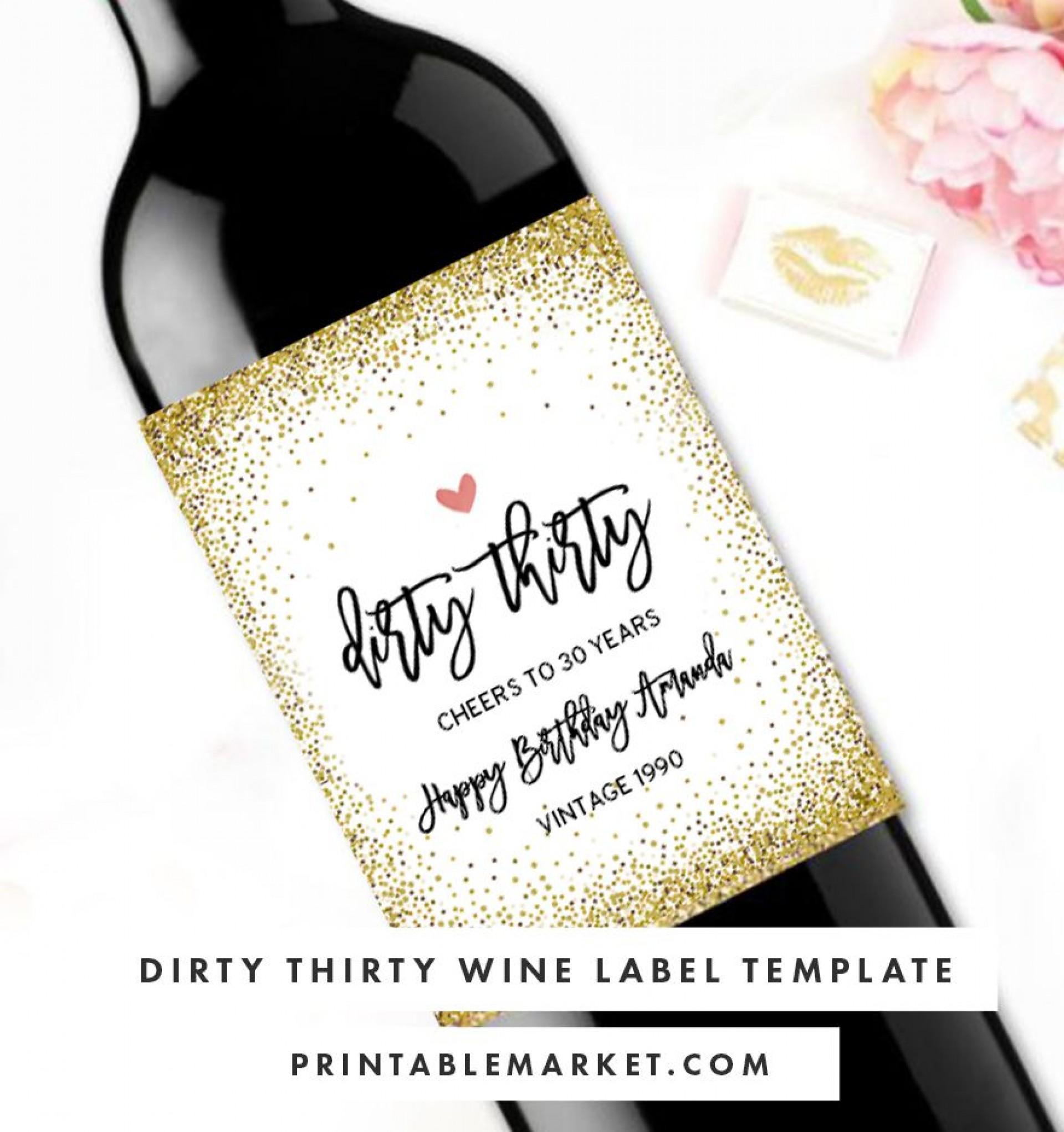 003 Stirring Free Wine Label Template Photo  Online Custom Downloadable Bottle1920