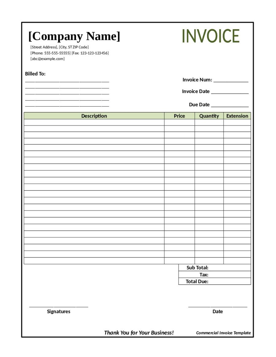 003 Stirring Invoice Template Pdf Fillable High Definition  Cash Receipt CommercialFull