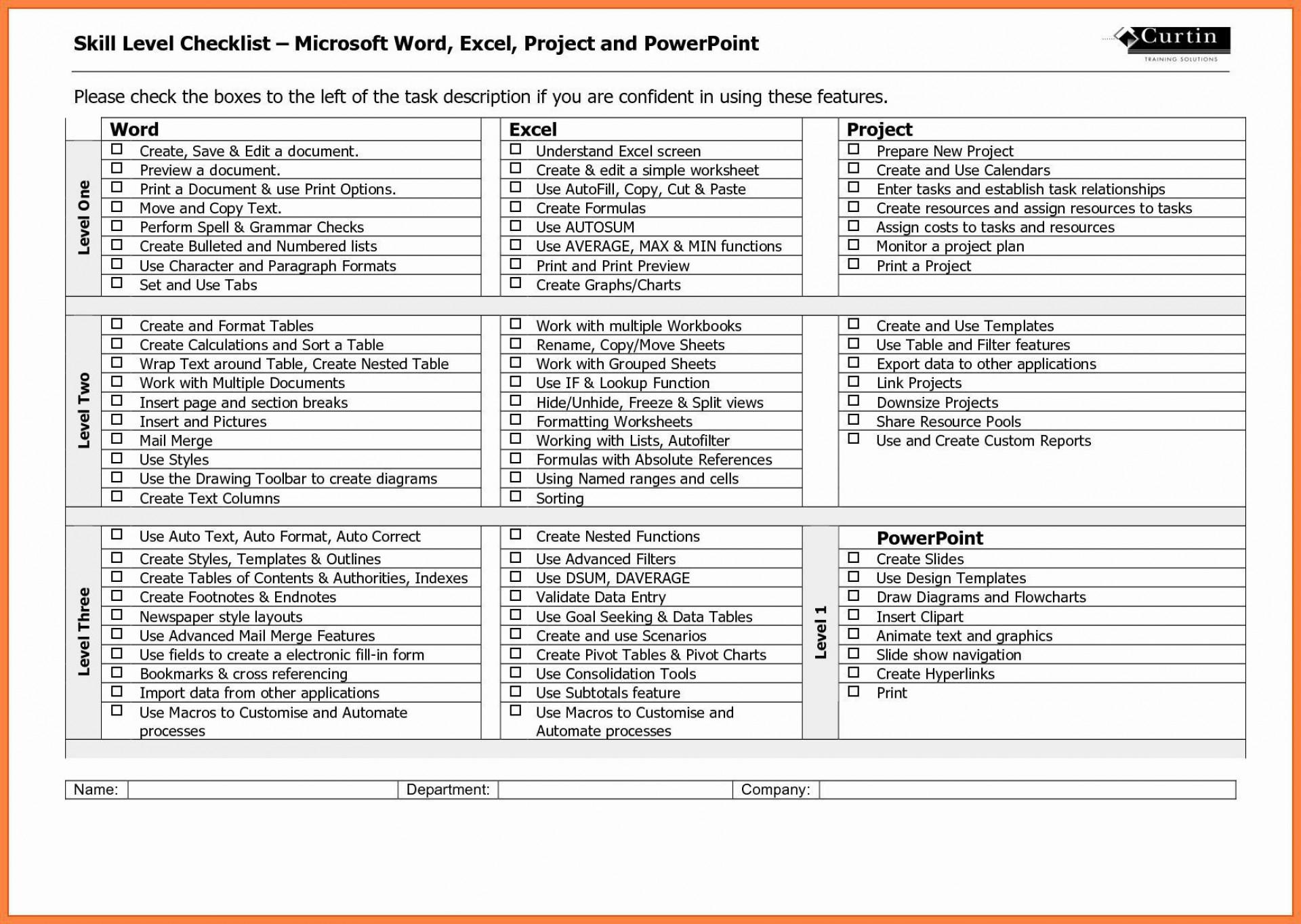 003 Stirring Microsoft Office Check Template High Definition  Checklist Register M1920