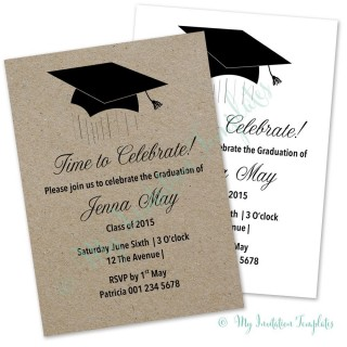 003 Stirring Microsoft Word Graduation Party Invitation Template High Definition 320