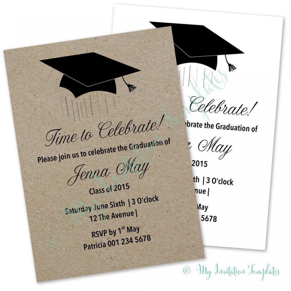 003 Stirring Microsoft Word Graduation Party Invitation Template High Definition 960