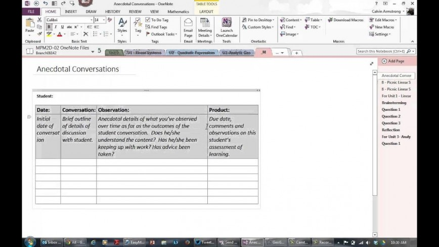 003 Stirring Onenote Project Management Notebook Template Picture