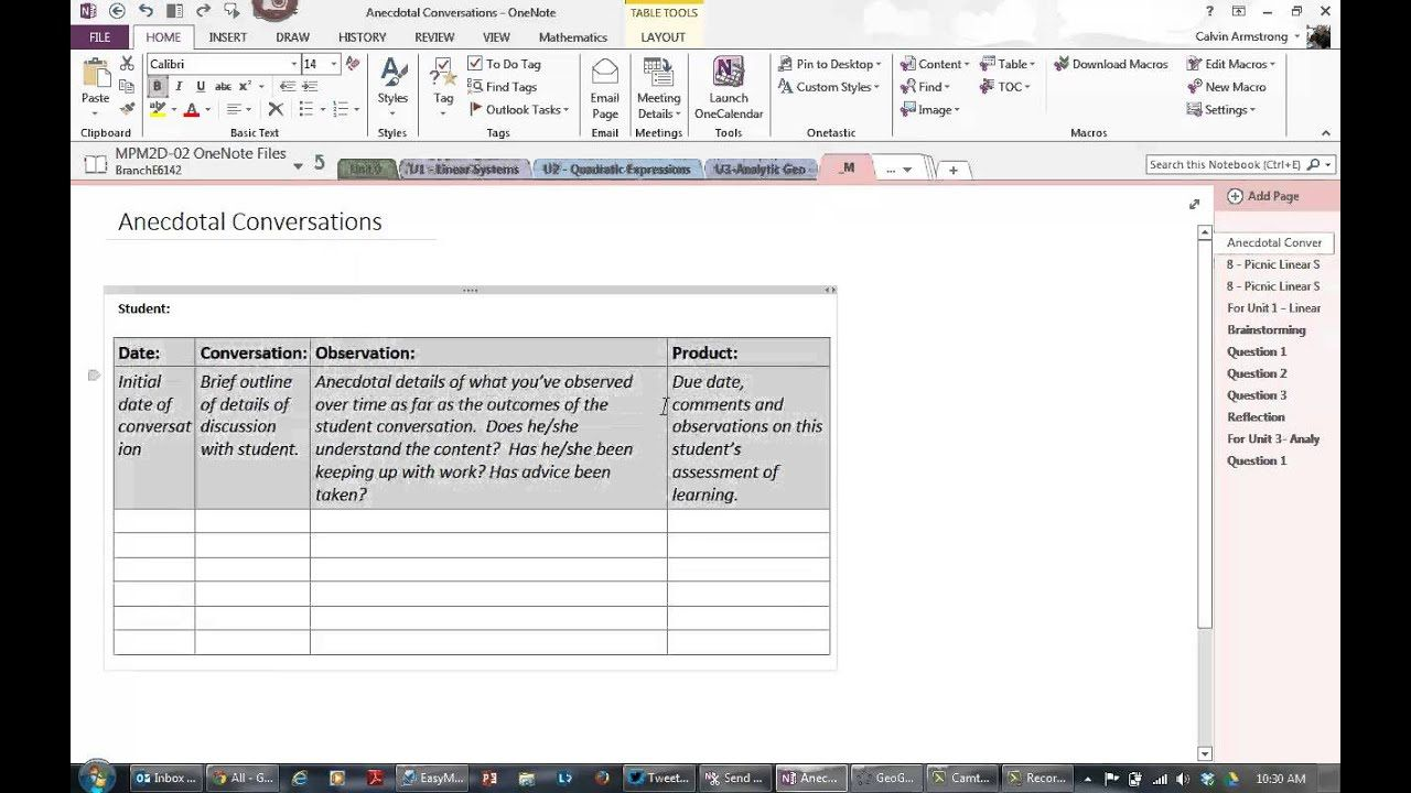 003 Stirring Onenote Project Management Notebook Template Picture Full
