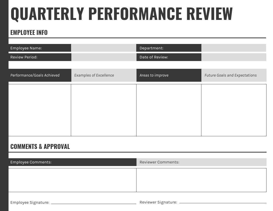 003 Stirring Performance Review Template Word Highest Quality  Doc Download SimpleFull